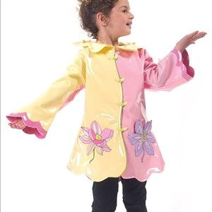 Kidorable Lotus Flower Kids Rain Jacket Girls